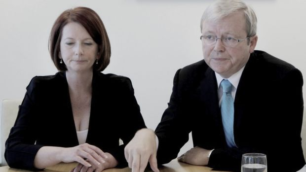Strain shows: Julia Gillard and Kevin Rudd are among the subjects of The Manner of their Going: Prime Ministerial Exits ...