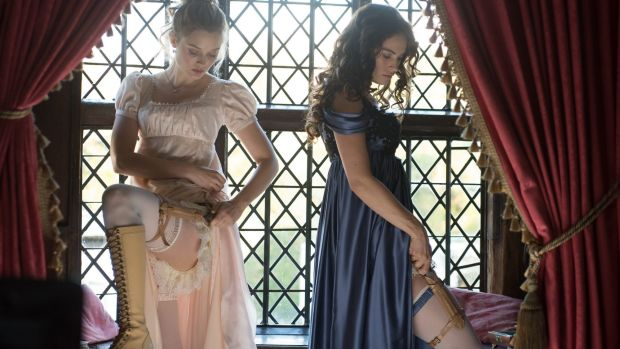 The Bennett girls strap knives to their thighs in <i>Pride and Prejudice and Zombies</i>.