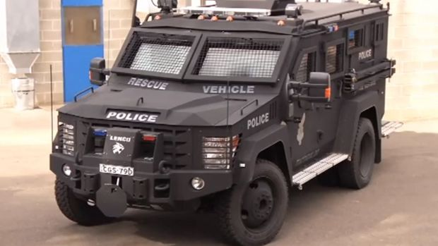 "The NSW Police ""Bearcat"" tactical response vehicle."