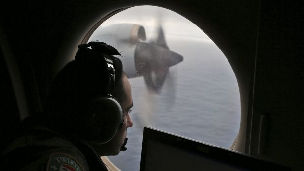 Flight officer Rayan Gharazeddine on board a Royal Australian Air Force Orion searches for the missing Malaysia Airlines ...
