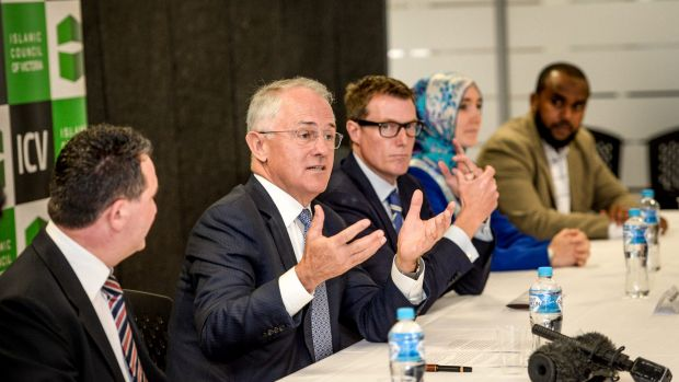 Malcolm Turnbull at the Islamic Council of Victoria.