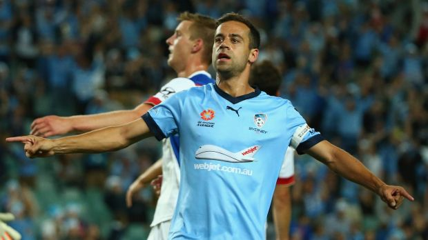 Sidelined: Sydney FC captain Alex Brosque will miss the rest of the Sky Blues' regular season.