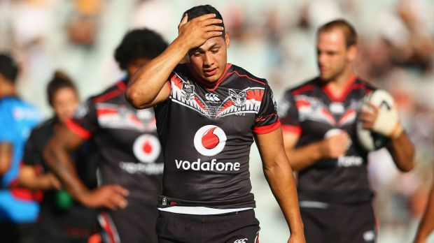 Tough initiation: Roger Tuivasa-Sheck suffered a loss in his first match as a Warrior.