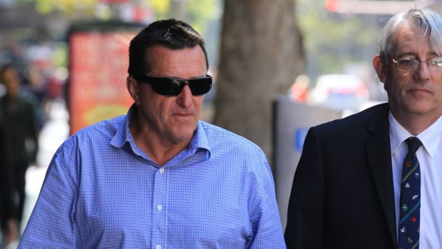 Mark Goodman, the former acting manager of Botany Bay Council's business unit, leaves today's ICAC proceedings.