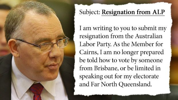 Cairns MP Rob Pyne has quit the Labor Party and will sit on the crossbench in Queensland's hung parliament.