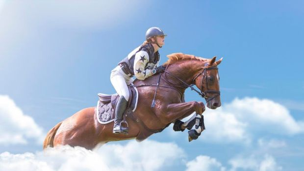 The composite image of Olivia Inglis riding among the clouds has been shared by those who are mourning the death of the ...