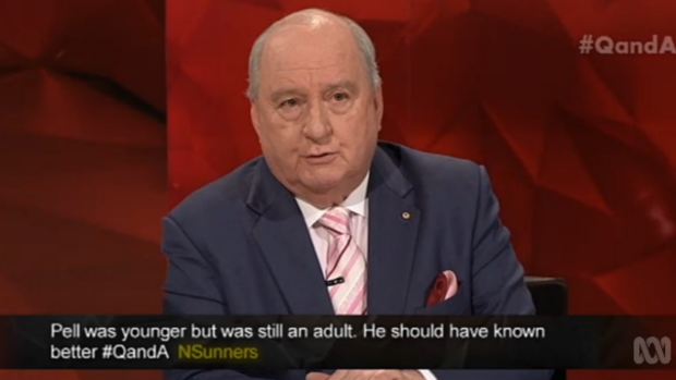 Alan Jones pledged his belief in  gender equality on Monday night.