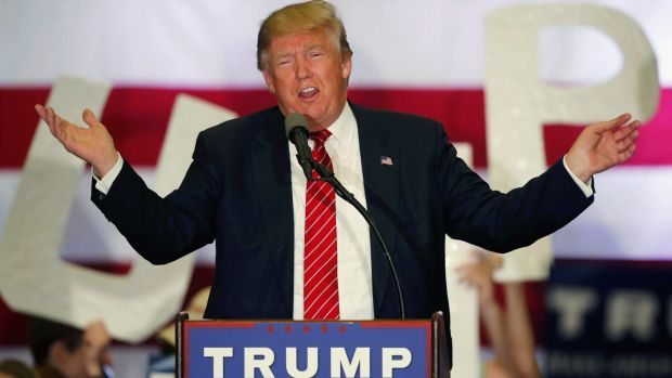 Republican presidential candidate Donald Trump speaks at a campaign rally in New Orleans on Friday.