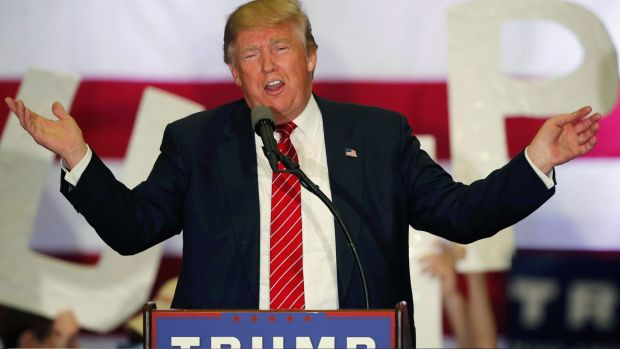 Looking for enemies: Republican presidential candidate Donald Trump.