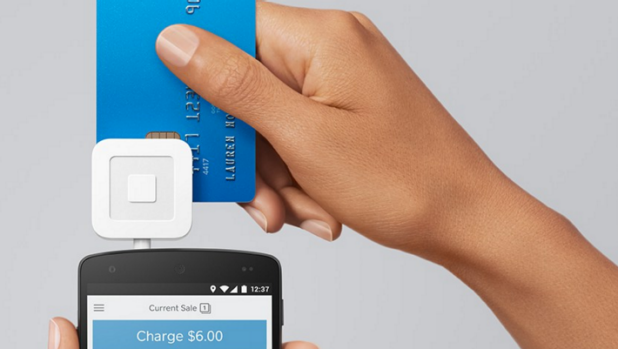 Square Reader works with a chip and PIN which, unlike bank point of sale terminals, is entered on to the smartphone screen.
