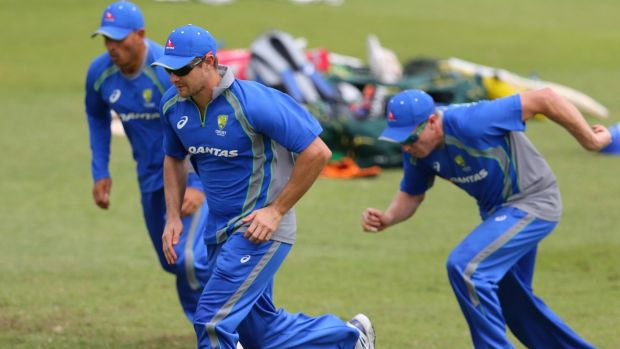 REady to go: Shane Watson trains in South Africa.