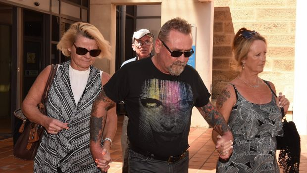 Peter Williams leaves Campbelltown courthouse after being granted bail.