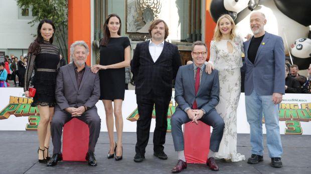 The all-star voice cast of <i>Kung Fu Panda 3</i>: Lucy Liu, Dustin Hoffman, Angelina Jolie,  Jack Black, Bryan ...