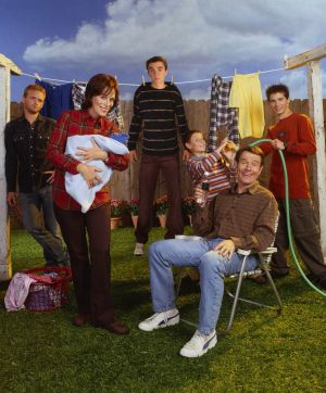 Family reunion: Bryan Cranston with the cast of <i>Malcolm in the Middle</i>.