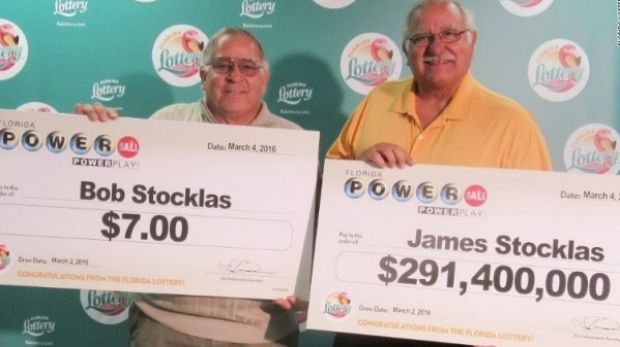 Bob and James Stocklas each won in the Florida lottery, but only one hit the jackpot.