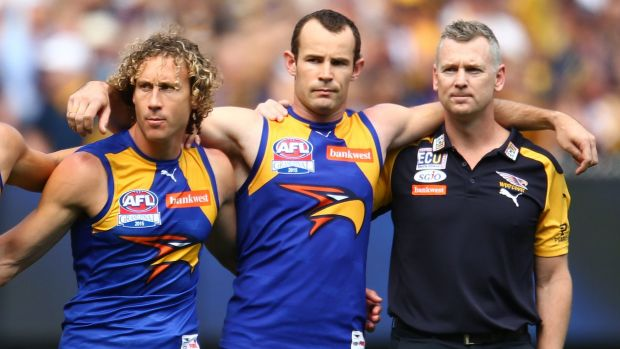 The Eagles before last year's grand final.