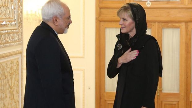 Foreign Affairs minister Julie Bishop meets with the Islamic Republic of Iran Foreign Affairs minister Dr Mohammad Javad ...