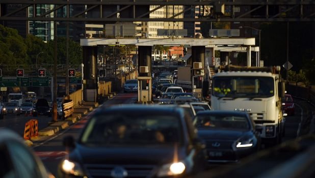 Traffic delays in the city following an accident on Wednesday.