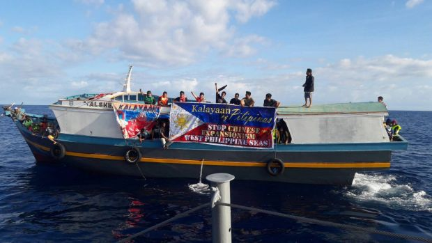 Filipino activists travelled to a tiny settlement in the Spratly Islands in December to protest against China's ...