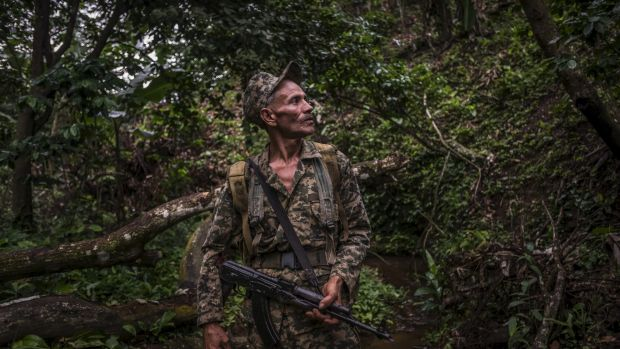 A 'rearmed' Contra rebel fighter who calls himself Tyson, in the mountains of northern Nicaragua last year.