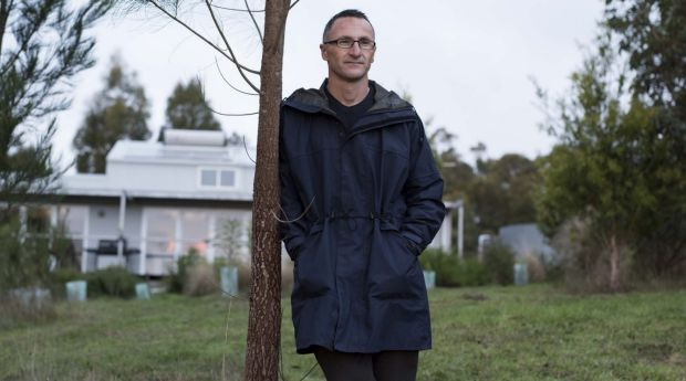 Richard Di Natale, dressed more modestly on his farm last year.