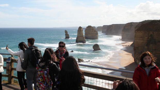 Tourists visiting the Twelve Apostles have only seen some of the famous limestone columns.