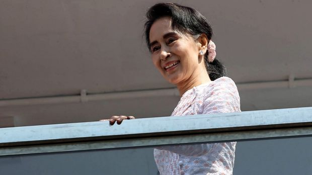 """Aung San Suu Kyi had vowed to be """"above the president""""."""