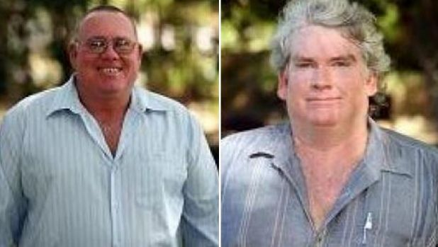 John Pickering, left, is running to be mayor in Croydon at the tip of the Gulf of Carpentaria. But he'll have stiff ...