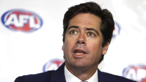 AFL chief Gillon McLachlan has been drug tested.