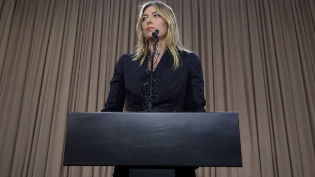 Maria Sharapova addresses the media regarding a failed drug test.
