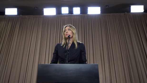 Maria Sharapova announced the positive test to the media last week.