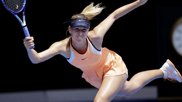 Maria Sharapova in action at this year's Australian Open.