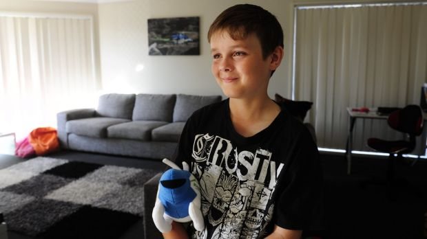 Brodie Collins,10, of Harrison, was hit by a car in 2014.