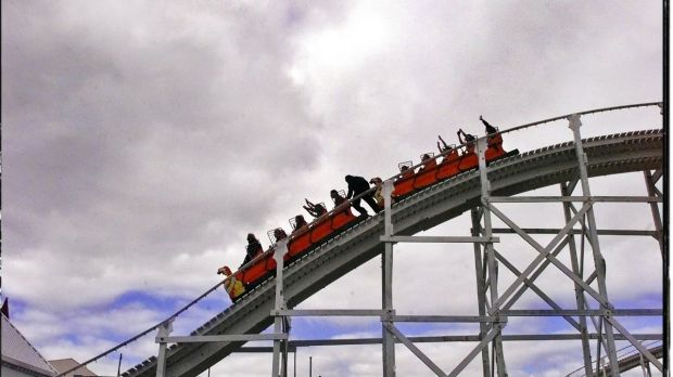 Way to go: VCE physics students had a physics lesson recently at Luna Park, testing rides for shifting G-Forces.