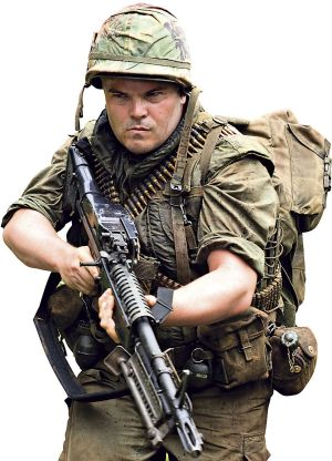 Jack Black in Tropic Thunder.
