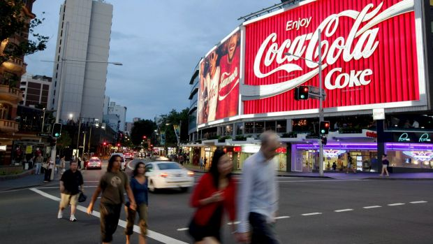 The Coca-Cola sign in Kings Cross, Sydney.