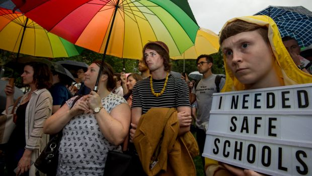 Attacks on the Safe Schools program elicited protests in Melbourne last year.