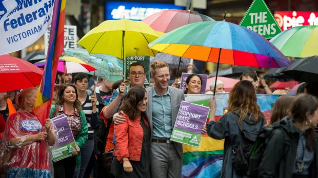Greens candidate Jason Ball was at the rally.