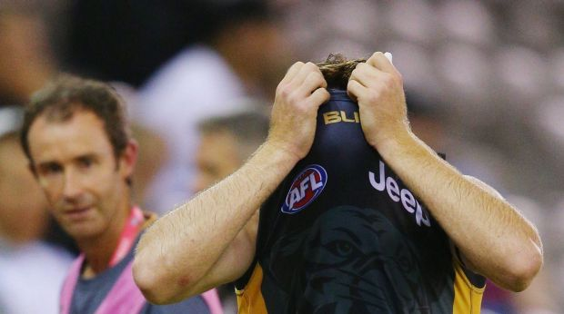 Hamstrung: Reece Conca was one of the Tigers hurt on Thursday.