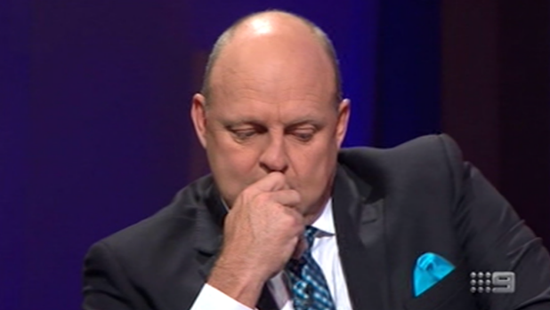 An emotional Billy Brownless opens up about his messy summer on The Footy Show on March 10, 2016.