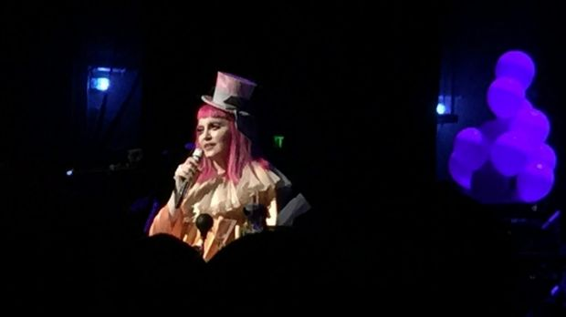 Madonna on Thursday at an exclusive fan show.