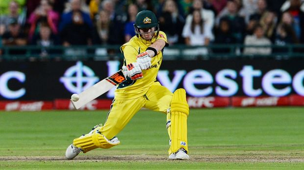 Big hitter: Captain Steve Smith is one of several damaging batsmen in the Australia squad chasing World T20 glory.