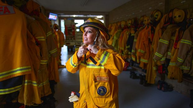 CFA volunteer Elissa Jans at the Olinda fire station.