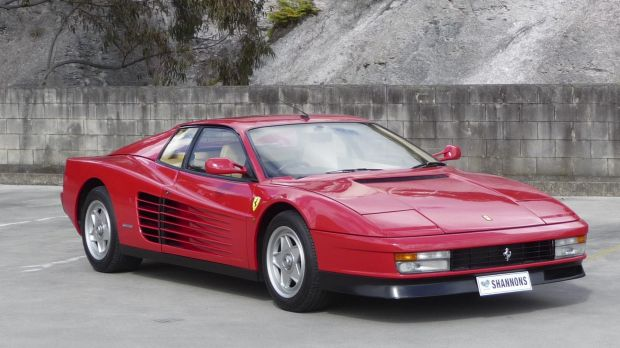 A 1985 Ferrari Testarossa coupe: After a 490 per cent run-up in prices for classic cars over the past decade, sales are ...