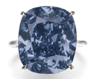 The diamond Blue Moon was snapped up for $US48.4 million by Hong Kong billionaire Joseph Lau for his seven-year-old daughter.