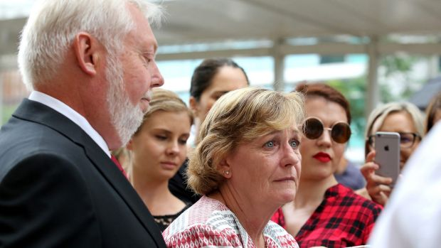 Bruce and Denise Morcombe speak to the media after the appeal application of Brett Peter Cowan was rejected by the ...
