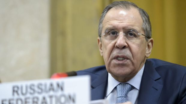 Russian Foreign Minister Sergey Lavrov in Geneva earlier this month.