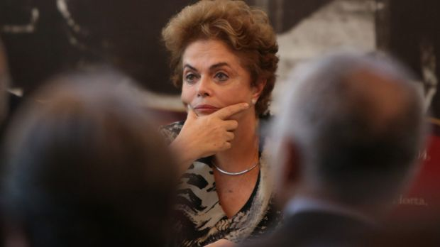 Brazilian President Dilma Rousseff  in Rio de Janeiro on Thursday before returning to Brasilia by helicopter for crisis ...