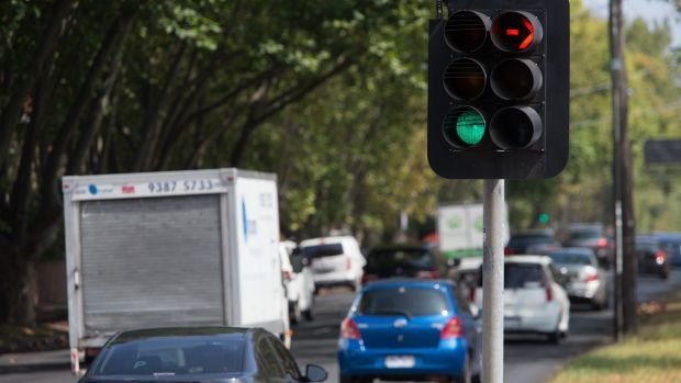 Dandenong Road and Orrong Road, where traffic is now flowing more smoothly after changes to traffic light sequences.