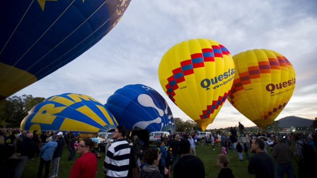 Get up bright and early to see the Canberra Balloon Spectacular.